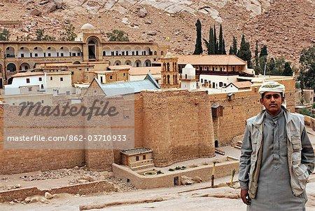 Ägypten, Sinai, St. Catherines Kloster. Arabischer junge.