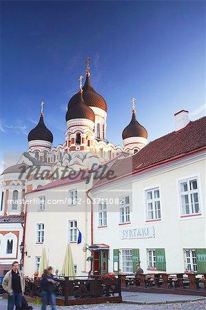 Estonie, Tallinn, la cathédrale Alexandre Nevski