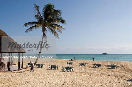 Playa del Carmen, Mexico. Beachfront in Playa del Carmen Mexico