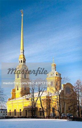La cathédrale Pierre et Paul, Saint-Pétersbourg, Russie