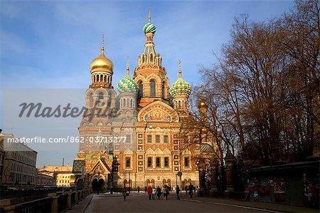 Russie, Saint-Pétersbourg ; Église de la résurrection / Eglise sur le sang versé, construite où Alexander II a été assassiné en 1881