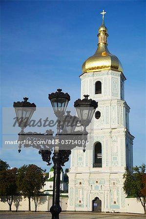 Bell tower of St Sophia's Cathedral, Kiev, Ukraine