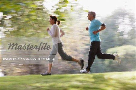 Couple courir ensemble