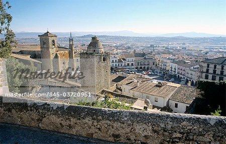Extremadura, Trujillo, vue sur la ville.