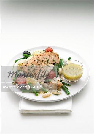 Lachs Niscoise Salat