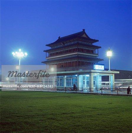 La place Tienanmen nuit