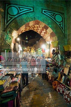 Stalls in gateway in Khan El Khalili