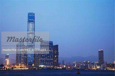 West Kowloon Cultural District and ICC, Kowloon, Hong Kong, China