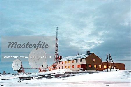 Arktis, Norwegen, Spitzbergen. Isfjord Radio Hotel.