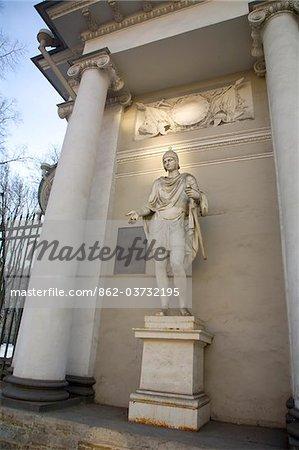 Russie, Saint-Pétersbourg ; Neo-Classical sculpture et architecture sur Nevski Prospekt