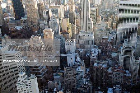 Vue aérienne des bâtiments, New York City, New York, États-Unis