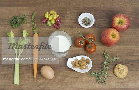 Assortiment de produits d'épicerie