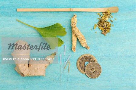 Ingrédients pour la médecine traditionnelle chinoise