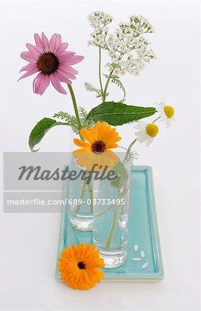 Blumenstrauß mit heilenden Pflanzen