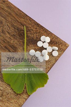 Sels de tissus et feuilles de ginkgo