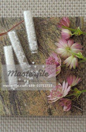 Globules et fleurs