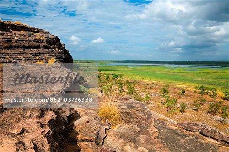 Australie, Northern Territory, Parc National de Kakadu. Vue sur la plaine d'inondation de Nadab du site autochtone d'Ubirr. (PR)