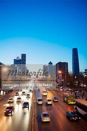 China, Beijing, CBD, city skyline