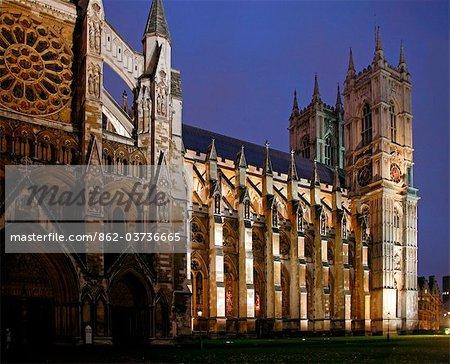 Angleterre, Londres. Abbaye de Westminster Londres au crépuscule