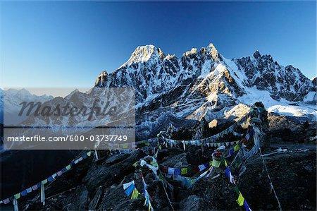 Vue du Gokyo Ri, Gokyo, Sagarmatha National Park, Khumbu, le District de Solukhumbu, Sagarmatha, Purwanchal, Népal