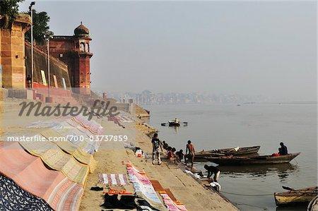 Ghats, Gange, Varanasi, District de Varanasi, Uttar Pradesh, Inde