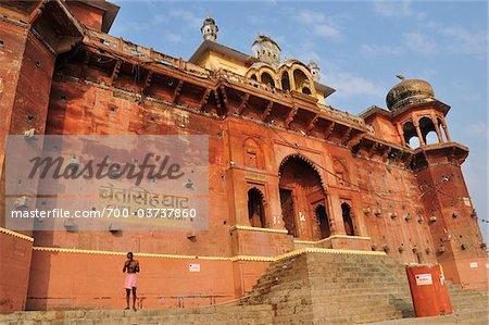Chet Singh Ghat and Chet Singh Fort, Varanasi, Varanasi District, Uttar Pradesh, India