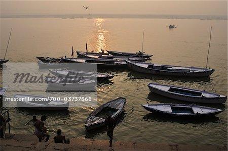 River Ganges, Varanasi, Varanasi District, Uttar Pradesh, India