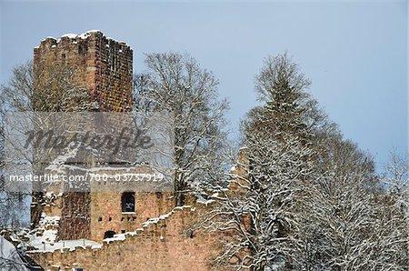 Château ruine Waldau, Koenigsfeld, forêt noire, Bade-Wurtemberg, Allemagne