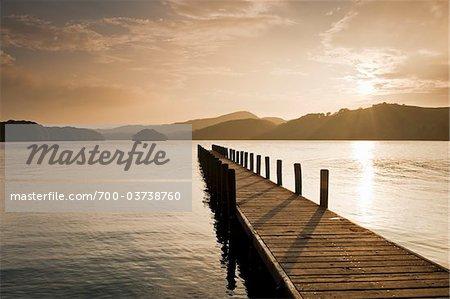 Dock on Coniston Water, Keswick, Cumbria, England