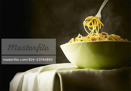 Spaghetti with chilli