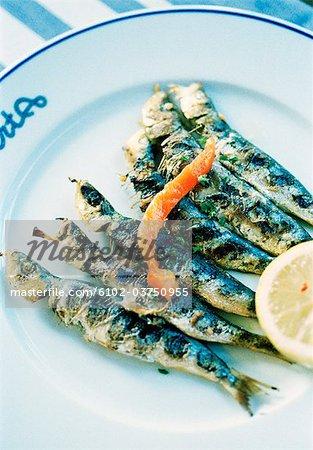 Un plat de poisson grillé.