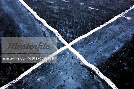Une croix dans la glace.