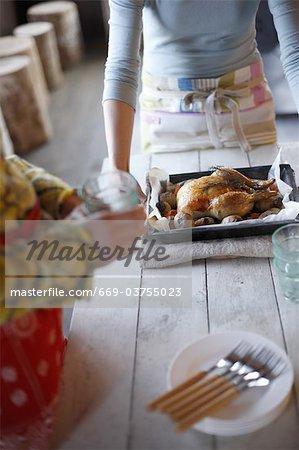 Vorbereiten der Mahlzeit