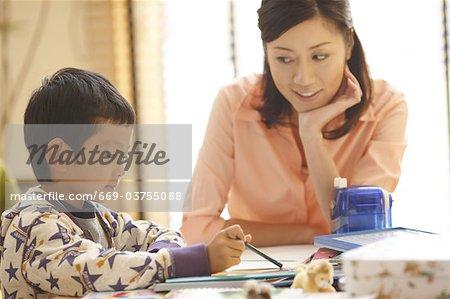 Mutter und Kind, Zeichnung