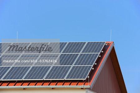 Solar Panels on Roof, Hesse, Germany