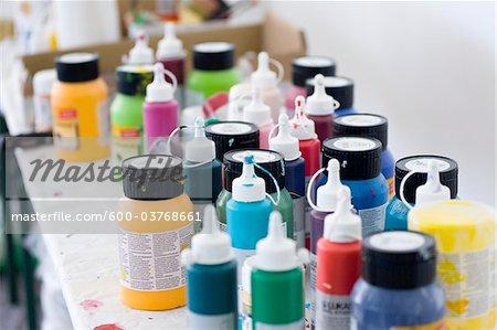 Vielzahl von Ölfarben