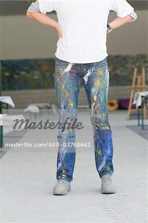 Painter wearing Jeans, Salzburg, Austria