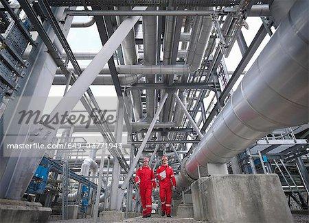 Arbeiter in unterirdischen Gas Speicher