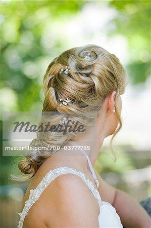 Rückseite der Braut Kopf