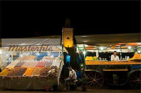 Obst, Hersteller, Djemaa el Fna, Marrakesch, Marokko