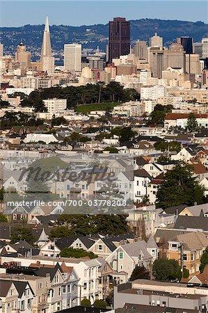 Du centre-ville de San Francisco, Califonia, USA