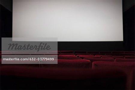 Salle de cinéma vide