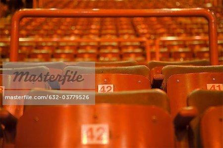 Leeres Theater Sitze