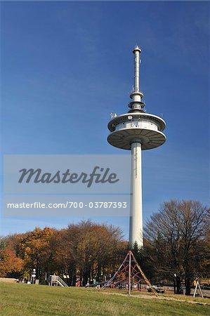 Tour de transmission, arrondissement de Vogelsberg, Hesse, Allemagne