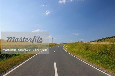Country Road, Franconia, Bavaria, Germany