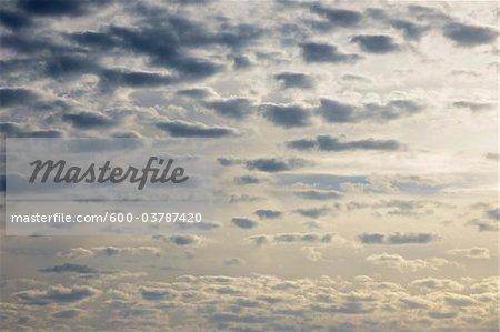 Cumuluswolken, Calmont, Bremm, Mosel River, Cochem-Zell, Rheinland-Pfalz, Deutschland