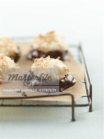 macarons enrobés de chocolat