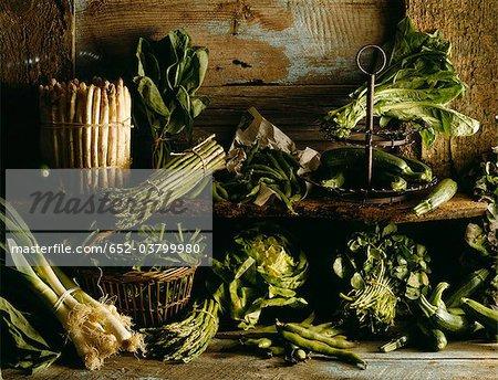 Légumes verts assortis