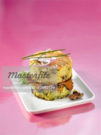 chanterelle mushroom potato cakes