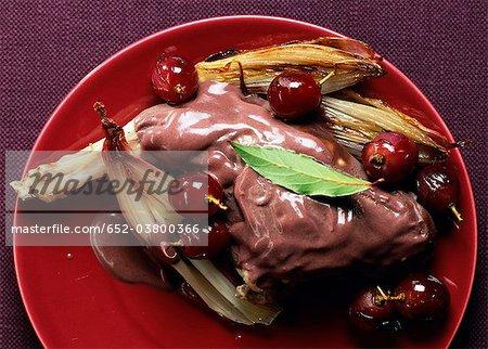 Lapin à la moutarde Violette et raisins